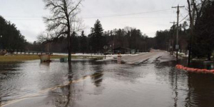 Highway flooding in Menominee County. (Photo: WisDOT)