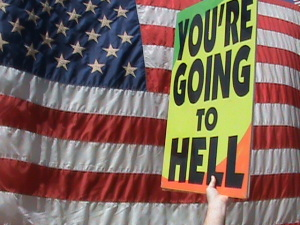 Westboro Baptist Church protest (PHOTO: group's website)