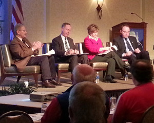Legislative leaders address the Wisconsin Counties Association (Photo: WRN)