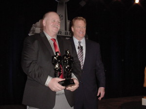 Bruce Larson with NFL Commissioner Roger Goodell