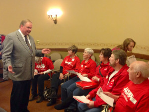 Rep. Andy Jorgenson and AARP members
