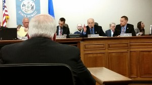 Senator Fitzgerald testifies before the Senate Labor Committee (PHOTO: Jackie Johnson)