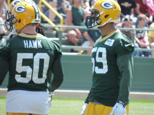 Brad Jones with AJ Hawk