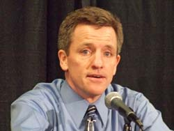 Wisconsin Coach Mark Johnson