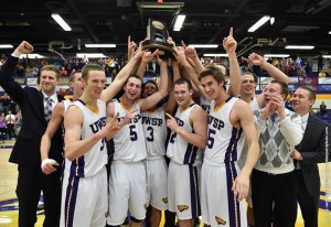 Pointers Celebrate! - Photo: UW-Stevens Point Athletics.