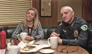 Public Defender Kelli Thompson and Police Chief Mike Koval (WisconsinEye)