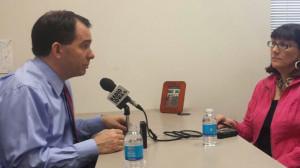 Gov. Scott Walker talks with Radio Iowa's O. Kay Henderson.