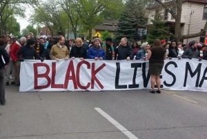 Demonstrators prepare to march. (Photo: WIBA)