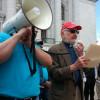 Rev. Joseph Ellwanger addresses a prison reform rally. (Photo: Andrew Beckett)