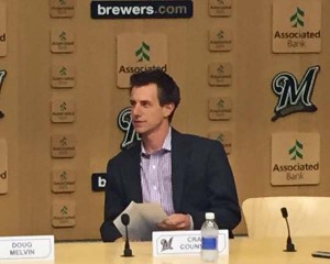 Craig Counsell takes over as Brewers Manager.