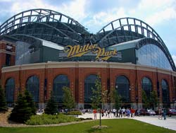 The Brewers return home to Miller Park today.