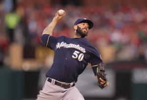 Milwaukee Brewers starting pitcher Mike Fiers delivers a pitch to the St. Louis Cardinals in the second inning at Busch Stadium in St. Louis. Photo by Bill Greenblatt/UPI