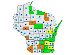 Air quality alerts issued in Wisconsin.