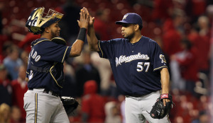 Brewers ace Francisco Ridriguez -  UPI/Bill Greenblatt