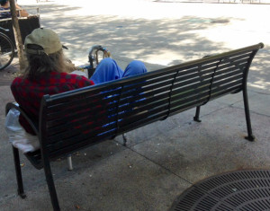 Homeless in Madison (WRN file photo)
