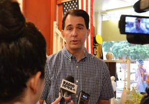 Walker campaigning in Iowa. (Photo: Radio Iowa)