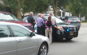 Police respond to the scene of a stand-off in Fond du Lac (Photo: KFIZ)