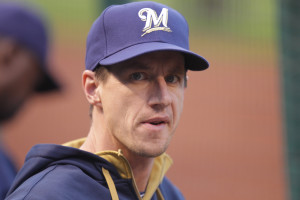 Brewers Manager Craig Counsell:  Photo by Bill Greenblatt/UPI
