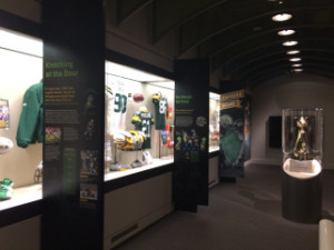 One of the many new displays at the Green Bay Packers Hall of Fame.
