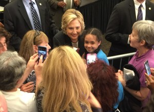 Hillary Clinton meets with supporters in Milwaukee. (Photo: Ann-Elise Henzl)