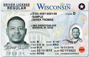Sample license (Photo: WisDOT)