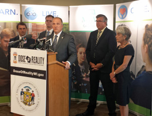 Attorney General Brad Schimel helps launch the Dose of Reality campaign. (Photo: Mike Kemmeter)