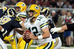 Aaron Rodgers UPI/Robert Cornforth
