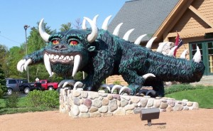 The Hodag statue (Photo: Rhinelander Chamber of Commerce)