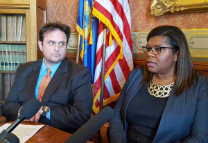 Reps. Joel Kleefisch (R-Oconomowoc)  and LaTonya Johnson (D-Milwaukee)