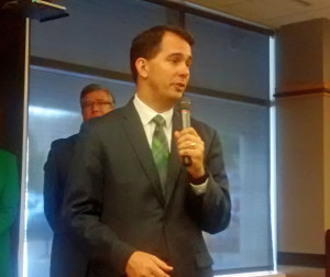 Gov. Scott Walker during a bill signing in Wausau (Photo: Larry Lee)
