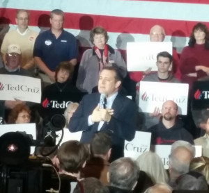 Sen. Ted Cruz (R-TX) in Janesville. (Photo: WCLO)