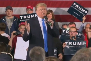 Donald Trump campaigns in Janesville.