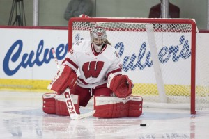 Wisconsin Badgers goalie Ann-Renee Desbiens (Photo by David Stluka)