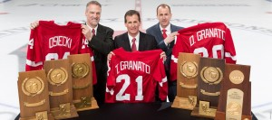 Mark Osiecki, Tony Granato & Don Granato. Photo Courtesy of UWBadgers.com
