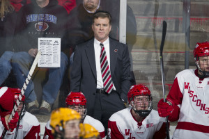 Wisconsin head coach Mike Eaves. (Photo by David Stluka)