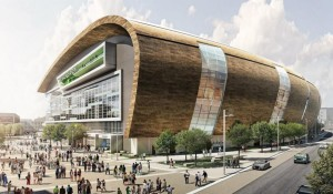 A rendering of the proposed Milwaukee arena.