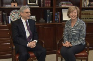 Judge Merrick Garland and Sen. Tammy Baldwin (D-WI)