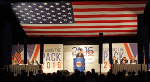 Gov. Scott Walker addresses the 2016 RPW convention in Green Bay (Photo: Andrew Beckett)