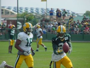 Packers workout last season at Ray Nitschke Field.
