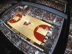 Kohl Center Court   Photo by: Jeff Miller