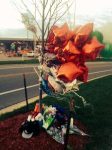 Memorial to Darius Haynes WRN photo