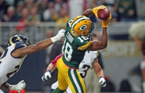 Packers WR Randall Cobb:  Photo - UPI/Bill Greenblatt