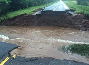 A flood damaged road in Iron County (Photo: Iron Co. Sheriff's office)