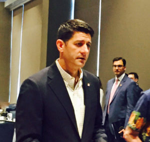 Speaker Paul Ryan (R-WI) speaks to Wisconsin delegates at the RNC in Cleveland (Photo: Ashley Byrd)