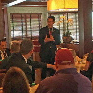 Walker speaks to Iowa delegates in Cleveland. (Photo: O. Kay Henderson)