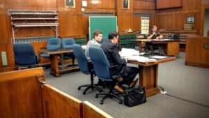 Clayton Michener plea hearing (photo: Raymond Neupert WHBL)