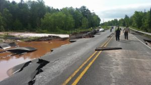 U.S. Highway 2 at Odanah PHOTO Tim FIsh