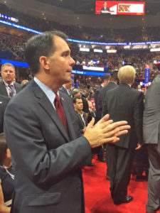 Governor Scott Walker listens to Priebus PHOTO WRN