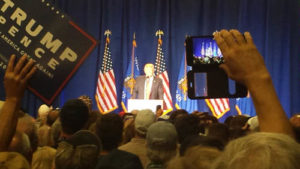 Donald Trump rallies with supporters in Green Bay. (Photo: WHBY)