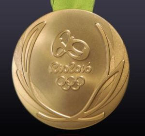 Olympic gold medal from the 2016 games. (Photo: International Olympic Committee)